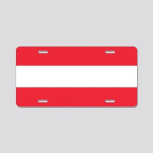 Flag of Austria Aluminum License Plate